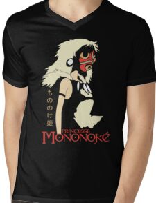 Princess Mononoke Hime, Anime Mens V-Neck T-Shirt