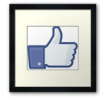 Facebook Stickers Like button Sticker (Small-Large) Framed Print