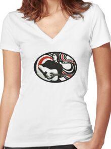 Elliott Smith Women's Fitted V-Neck T-Shirt