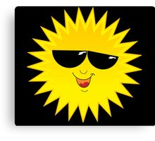 I Love Sunshine - Funny Cartoon Sun T-Shirt Solar Clothing Decal Canvas Print