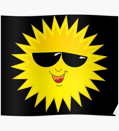 I Love Sunshine - Funny Cartoon Sun T-Shirt Solar Clothing Decal Poster