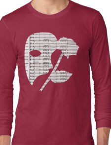 Phantom Music Sheet Long Sleeve T-Shirt