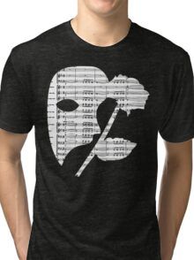 Phantom Music Sheet Tri-blend T-Shirt