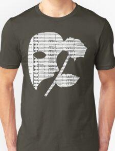 Phantom Music Sheet Unisex T-Shirt