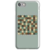 Jigsaw Puzzle Pattern in Nature Color Palette iPhone Case/Skin