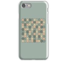 Jigsaw Puzzle Pattern in Calm Color Palette iPhone Case/Skin