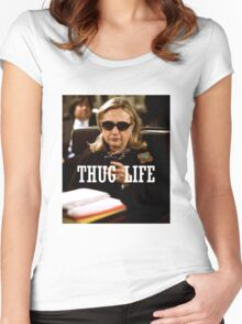 Throwback - Hillary Clinton Women's Fitted Scoop T-Shirt