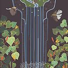 Waterfall and Fantails by Rosie Louise by contourcreative
