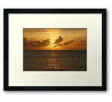 Cayman Island Sunset Framed Print