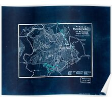 Civil War Maps 1735 The battle of Chancellorsville or ''The Wilderness'' Saturday May 2nd 1863 Inverted Poster
