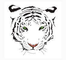 Green-Eyes White Tiger Kids Clothes