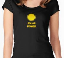 Solar Power - Generate Energy From The Sun T-Shirt Sticker Women's Fitted Scoop T-Shirt