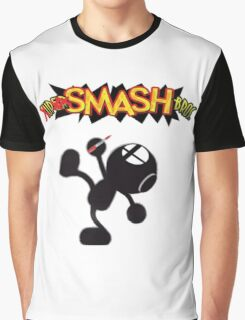 Mr. Game and Watch: Upsmash Bros. Graphic T-Shirt