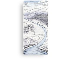 Snowy Day in Japan Canvas Print