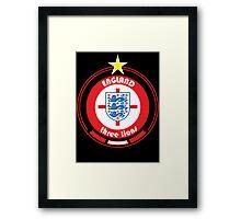 World Cup Football 6/8 - Team England Framed Print