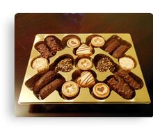 The Swiss Collection - Mini Chocolate Biscuits Canvas Print