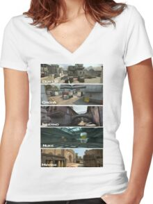 Csgo Women's Fitted V-Neck T-Shirt