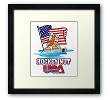 USA Hockey Nut Framed Print