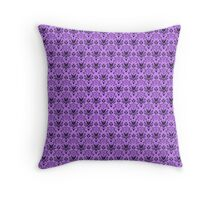 The Haunted Mansion Wallpaper - Light Purple  Throw Pillow