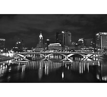 Columbus in Black and White Photographic Print