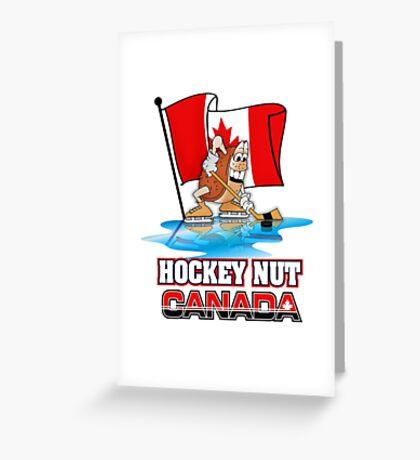 Hockey Nut CANADA Greeting Card