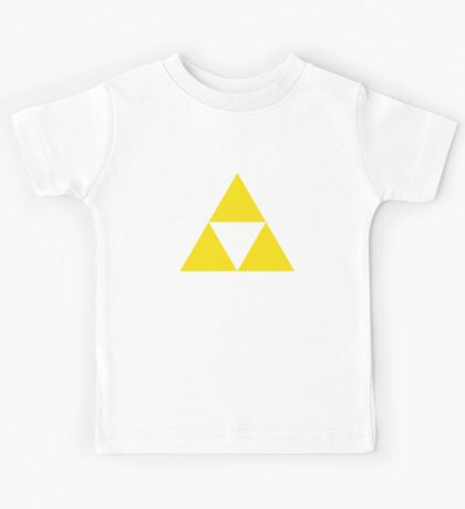 Gold Zelda triforce 3 Kids Tee