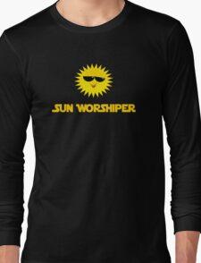 Sun Worshiper - Solar God Helios - PV Renewable Energy T-Shirt Long Sleeve T-Shirt
