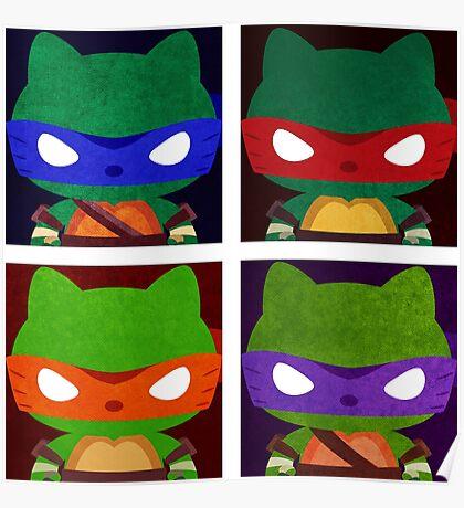 Teenage Mutant Ninja Kitties Poster