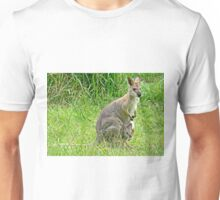 Wallaby with Joey Unisex T-Shirt