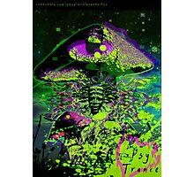 Psychedelic Mushroom Love Photographic Print