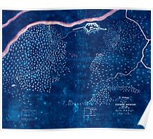 Civil War Maps 0418 Ft McAllister Inverted Poster