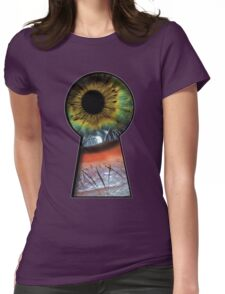 Eye in the KeyHole Womens Fitted T-Shirt