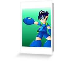 Splatoon Mega Man Greeting Card