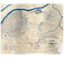 Civil War Maps 0418 Ft McAllister Poster