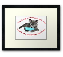 Cat and Wii Framed Print