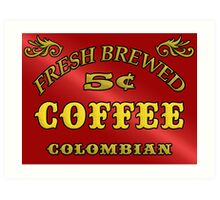 Vintage Style Coffee Sign Art Print
