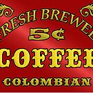 Vintage Style Coffee Sign by Tony  Bazidlo