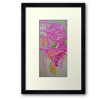 Abstract Self Portrait / Concentration Framed Print