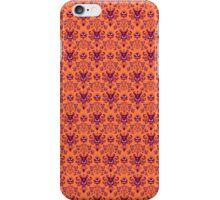 The Haunted Mansion Wallpaper - Orange/Red iPhone Case/Skin