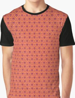 The Haunted Mansion Wallpaper - Orange/Red Graphic T-Shirt