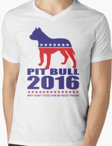 Vote Pit Bull is your Best Friend  Mens V-Neck T-Shirt