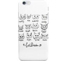 Cat Breed Chart iPhone Case/Skin