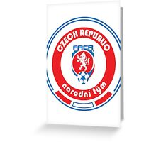 Euro 2016 Football - Team Czech Republic Greeting Card