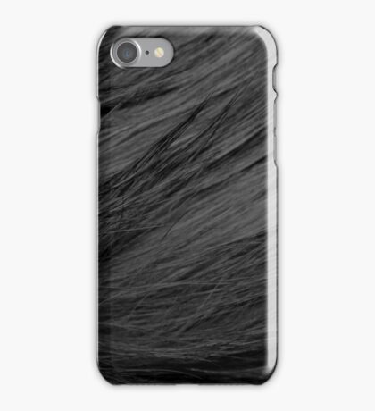 LONG HAIRED BLACK CAT FUR iPhone Case/Skin