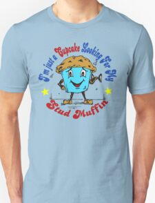 Art, Funny, Cupcake, Cake, Muffin, Cool, Graphic, Blue, Red, Chocolate, Fitness, Gym, Barbell, Cartoon, Stickers, Boyfriend, Girlfriend, Cute, Man, Women Unisex T-Shirt