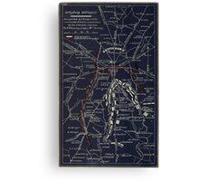 Civil War Maps 0455 Gettysburg battlefield Canvas Print