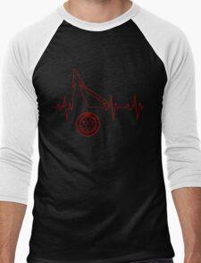 Heartbeat Pyramid Head Men's Baseball ¾ T-Shirt