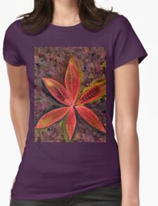 Wishing you a Merry Christmas with Poinsettias 2 Womens Fitted T-Shirt