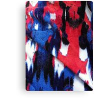 Red White Blue and Black Canvas Print