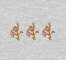 Monkey Loves Neon Bananas Unisex T-Shirt